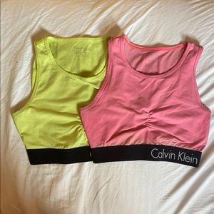 Calvin Klein sports bras bundle